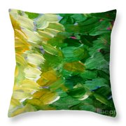 Yellow Green - Abstract Throw Pillow