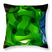 Yellow Green And Blue Throw Pillow