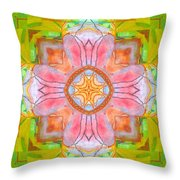 Yellow Green Medallion Throw Pillow