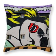 Yellow Haired Throw Pillow