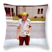 Yellow Hat Throw Pillow