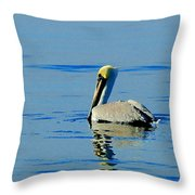 Yellow Headed Pelican Throw Pillow