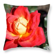 Yellow Heart Rose Throw Pillow