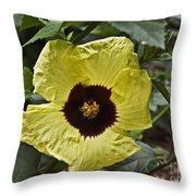 Yellow Hibiscus F134 Throw Pillow
