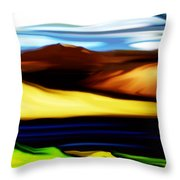 Yellow Hills Throw Pillow