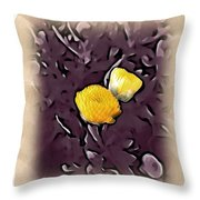 Yellow In Purple Throw Pillow