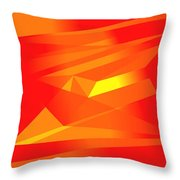 Yellow In Red Throw Pillow