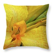 Yellow In The Morning Throw Pillow