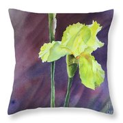 Yellow Iris Throw Pillow