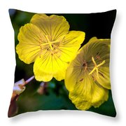 Yellow Is Gold Among The Flowers Throw Pillow