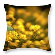 Yellow Island Throw Pillow