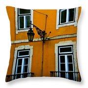 Yellow Italian Building Throw Pillow