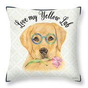 Yellow Lab-jp3869 Throw Pillow