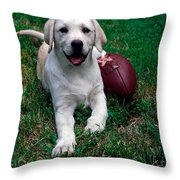 Yellow Labrador Retriever Puppy Throw Pillow