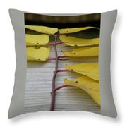 Yellow Ladder Throw Pillow