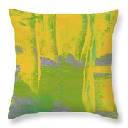Yellow Ladders Throw Pillow