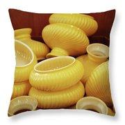 Yellow Lampshades Throw Pillow