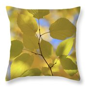 Yellow Leaves. Throw Pillow