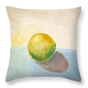 Yellow Lemon Still Life Throw Pillow