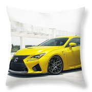 Yellow Lexus4 Throw Pillow