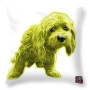 Yellow Lhasa Apso Pop Art - 5331 - Wb Throw Pillow