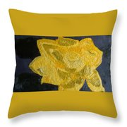Yellow Lilac On The Pond Throw Pillow