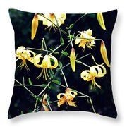 Yellow Lilies In Fort Tryon Park Throw Pillow