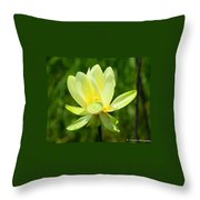 Yellow Lotus Throw Pillow