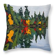 Yellow Maples Throw Pillow