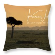 Yellow Mara Dawn Throw Pillow
