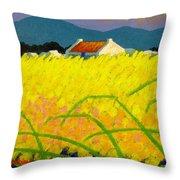 yellow Meadow Ireland Throw Pillow