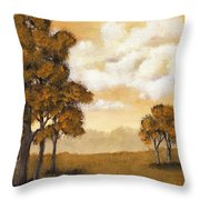 Yellow Mood Throw Pillow