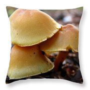 Yellow Mushrooms 2 Throw Pillow
