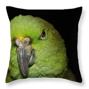 Yellow-naped Amazon Parrot Throw Pillow