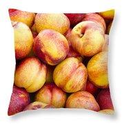 Yellow Nectarines Throw Pillow
