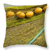 Yellow On Lime Throw Pillow