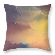 Yellow Orange Blue Watercolor Square Design 3 Throw Pillow