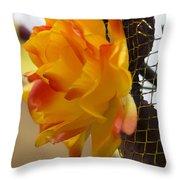 Yellow-orange Flower Throw Pillow