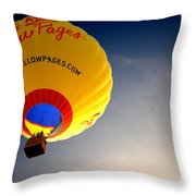 Yellow Pages Balloon Throw Pillow