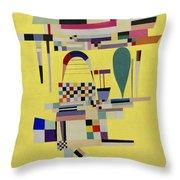 Yellow Painting Throw Pillow