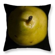 Yellow Pear Stem End Throw Pillow