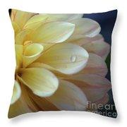 Yellow Petals With Raindrop Throw Pillow