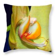 Yellow Phaelanopsis Throw Pillow
