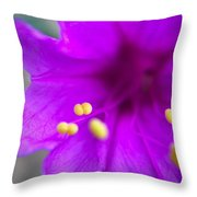 Yellow Pistil Throw Pillow