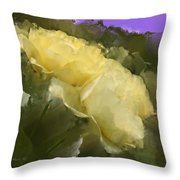 Yellow Pitch Throw Pillow