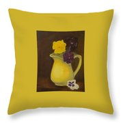 Yellow Pitcher 2 Throw Pillow
