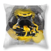 Yellow Poison Dart Frog No 04 Throw Pillow