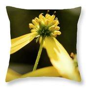 Yellow Pollinate Throw Pillow