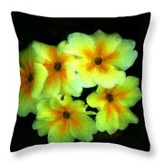 Yellow Primrose 5-25-09 Throw Pillow