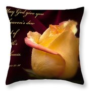 Yellow-red Rose-p045 Throw Pillow